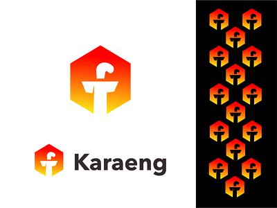 Karaeng facebook fb illustration akdesain branding creative minimal logo design negative space daeng karaeng sword badi bugis