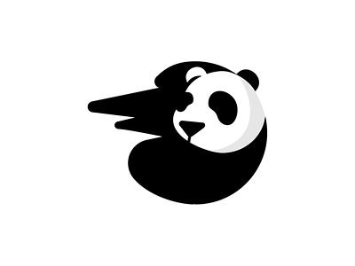 panda/ logo concept logo design creative minimal branding logo mark symbol negativespace negative space logo negative space pandas panda bear panda logo panda