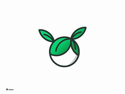 Leaf Kids agriculture globe girls kids logo head simple logo design leaf green eco clean line