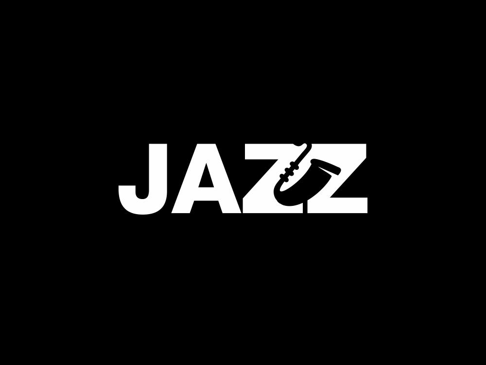 jazz 76/365 logo design clean instrument music jazz jazz typo jazz logo minimal creative negative space akdesain symbol typography lettering logo illustration identity logo type design branding