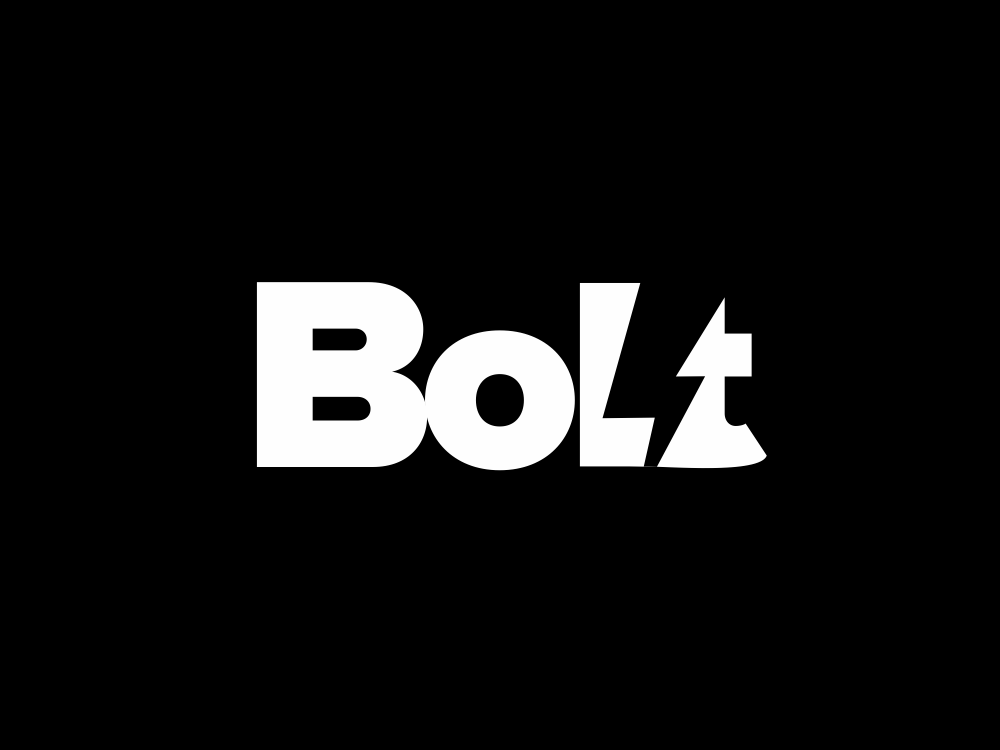 Bolt 92/365 fast lightning bolt typo bolt minimal creative negative space akdesain symbol typography lettering logo illustration identity logo type design branding