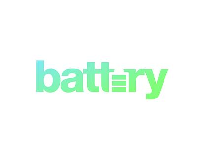 battery 144/365 logos branding lettering logo type minimal creative design typography logo design vector batteries charger energy battery