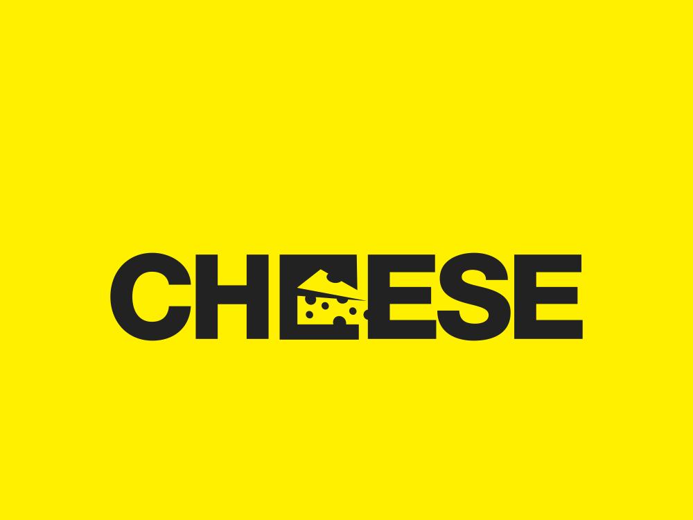 Cheese 181/365 logo type creative branding typography lettering logo design negative space minimal food cheese burger cheeseburger cheesecake cheese