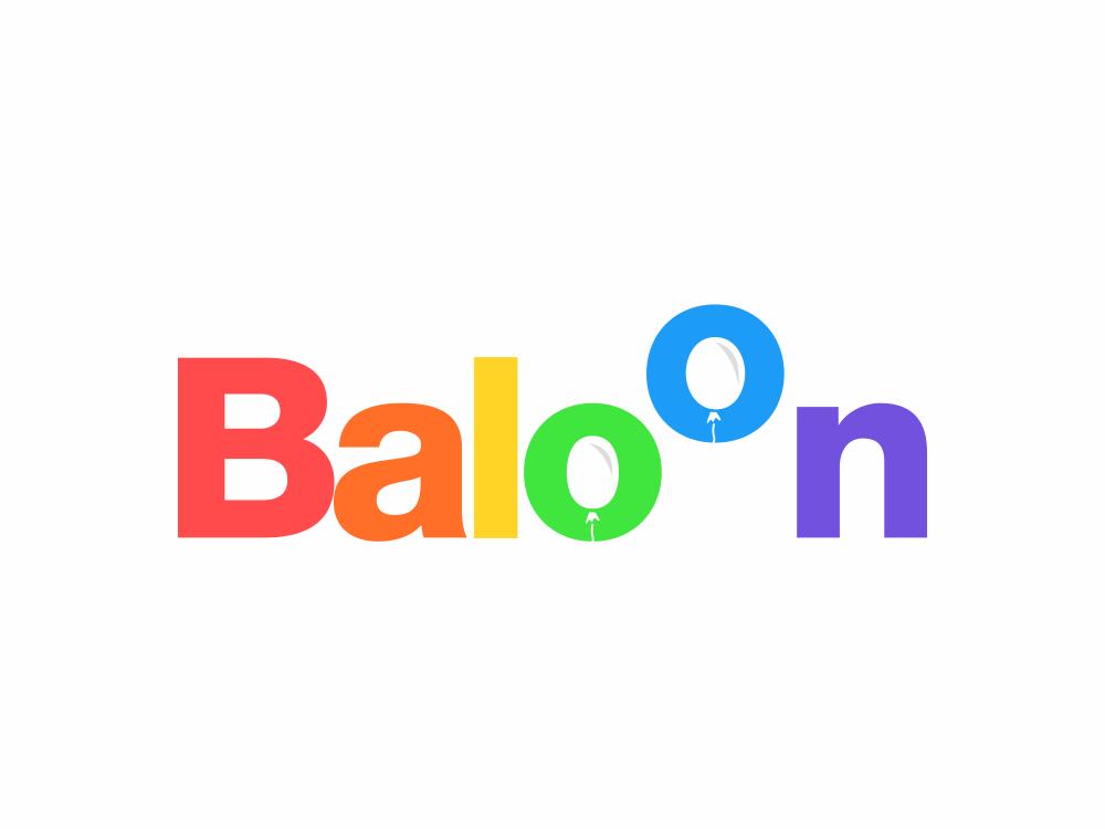 baloon 224/365 modern negative space logo type lettering illustration creative typography logo design birthday logo event logo party colourfull balloon balloons balons baloon