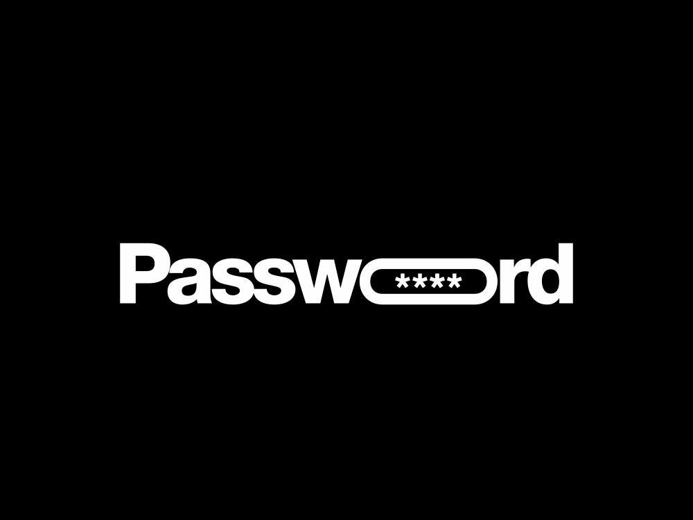 Password 227/365 password logo logo type logo creative lettering typography negative space logo design security logo protect safe password manager passwords password