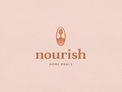 Nourish Final chef food vector logo design branding