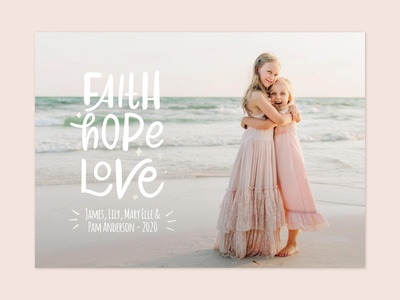 Faith Hope Love Lettering Photo Card for Minted christmas lettering religious quote minted challenge minted card minted photo card religious religion photo card minted love hope hand drawn faith lettering christmas christmas card bible study