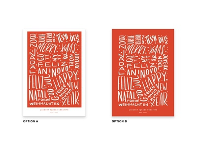 International Lettering Christmas Card Poll christmas cards business christmas corporate card corporate christmas card happy new year merry christmas hand script two tone two colors two color two-tone options poll christmas card christmas international christmas hand drawn lettering art lettering