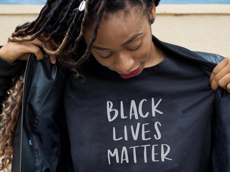 Black Lives Matter Lettering hand script lettering black lives matter lettering silhouette cameo