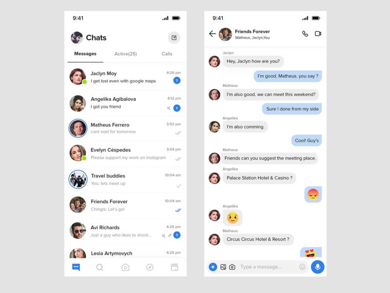 Chat creative uiux clean design creative ui chatting app chat box chat app ui