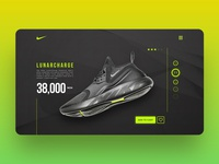 Nike LunarCharge : Web UI Freebie