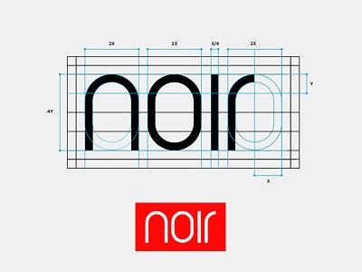 Noir: Custom Logotype. lettermark minimalist icon brand typography logodesigner branding logodesign logo