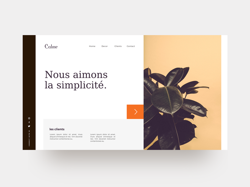 Calme : Free Web UI Concept. kit design ui minimal freebie sketch interface uiux webdesign