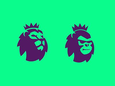 Primate League: Premier League Parody minimalist icon brand logodesigner branding logodesign logo