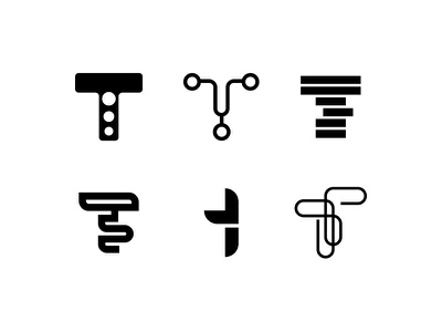 T Letter Marks adobeillustator typography branding minimalistlogo logodesign sketch logo