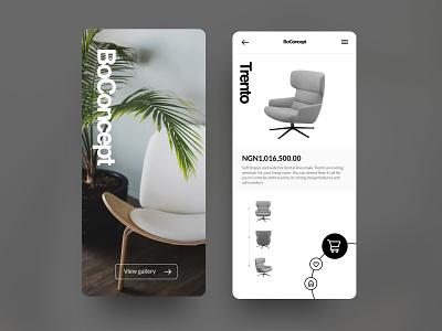Concept: BoConcept Mobile App uidesign concept uiux design ui minimalist mobile app