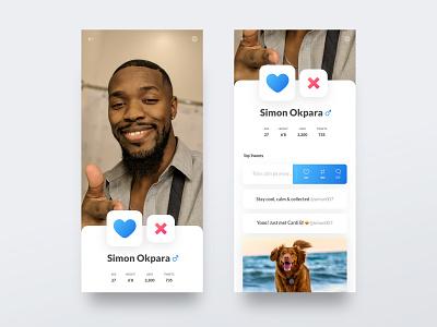 Twindder: Social App Concept tinder twitter social app uiux uidesign concept ux ui design clean minimalist