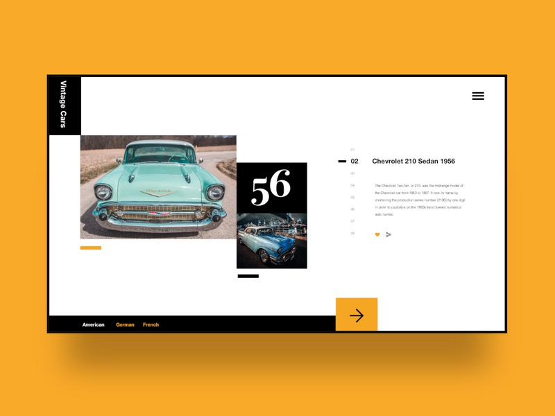 03 Daily layout explorations: Vintage Cars