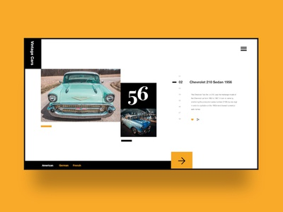 03 Daily layout explorations: Vintage Cars userinterfacedesign concept ux uidesign design uiux minimalist