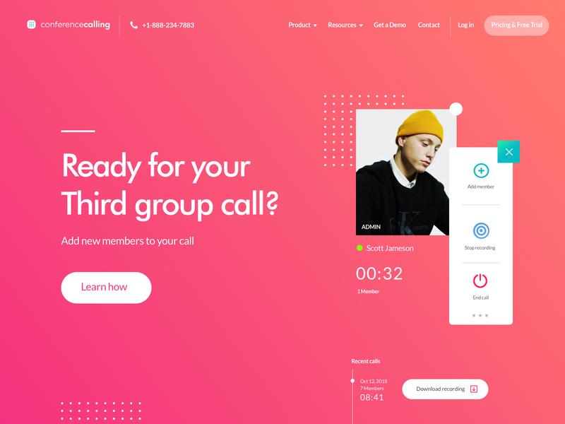 CC  Hero  Exploration : Rebound chat social userinterfacedesign user call uidesign clean uiux ui