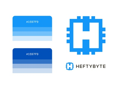 Heftybyte developer branding brand typography type simple minimalist design logo