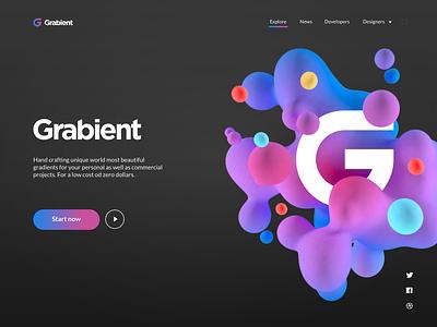 Grabient Rebound website design ux uidesign uiux typography minimalist