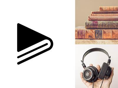 Audio Book Logo icondesign app illustration branding logodesign icon logo concept ui minimalist