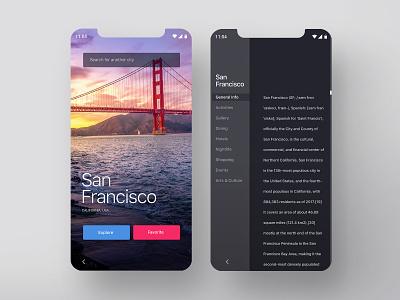 City Info App ux app mobileappdesign productdesign mobilapp concept uiux uidesign design minimalist