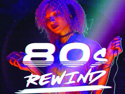 80s poster branding