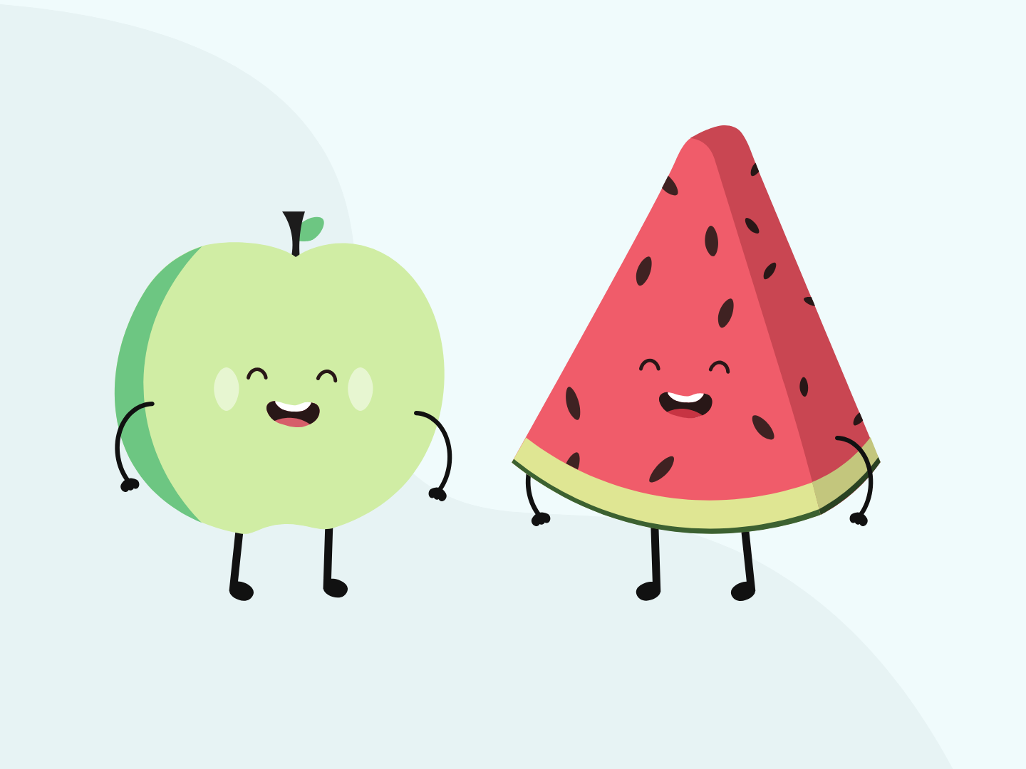 Fruit Characters fruit illustration cute illustration characters fruit