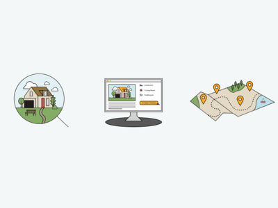 Property Search Illustrations