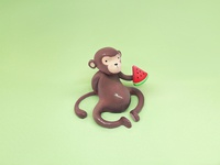 Monkey & Watermelon