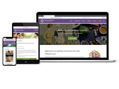 Holistic Nutrition for the Whole You Website Design