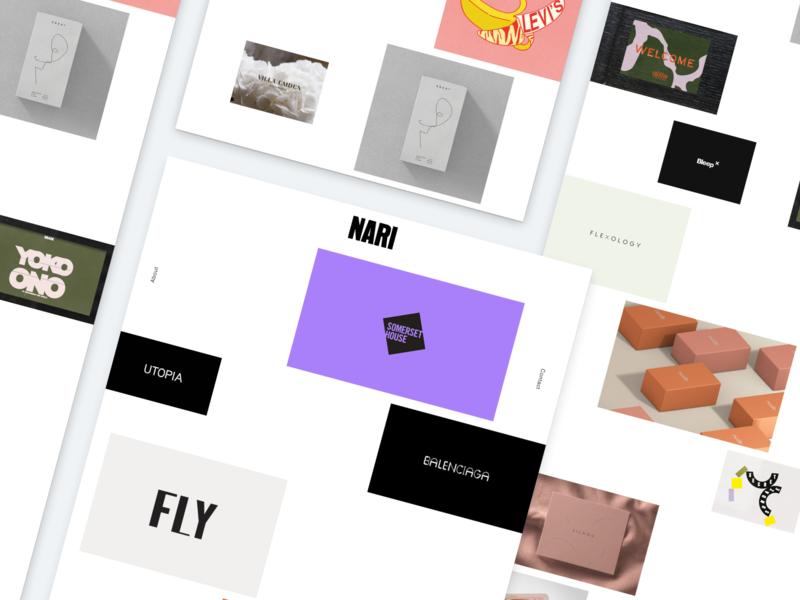 NARI Studio Re-brand damn fine ui web portfolio studio