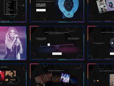 Your Musical DNA quiz music ux ui web damn fine