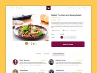 E-Commerce Food Product Page