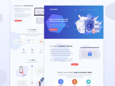 Zecure - Cyber Security Landing Page Design