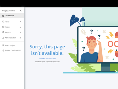 Error Page website web ui material ui materialdesign logo icon branding design branding 404page error
