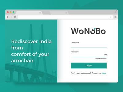 WoNoBo Login Web