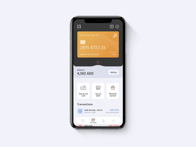 Manage Cards  |  Roads and Transport Authority App credit card illustration banking app dark mode payment dubai travel bitcoin fintech banking app interactiondesign interaction finance animation ux mobile