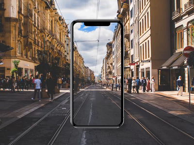 Augmented Reality     Find Places using AR muzli design application android app mobile animation vacation ux ui vr travel dubai ios places ar augmentedreality augmented augmented reality