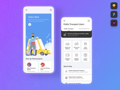 Transport and Parking • Freebie / Free Download Figma XD Sketch sketch xd figma free download download illustration icons animation design clean muzli fribbble dailyui android ios mobile free freebies freebie interaction