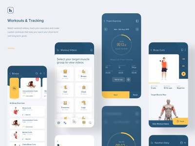 Aero Fitness | Workouts and Tracking videos clock alarm timer tracking training fitness app gym fitness diary blockchain clean interaction design illustration animation app ios ux mobile
