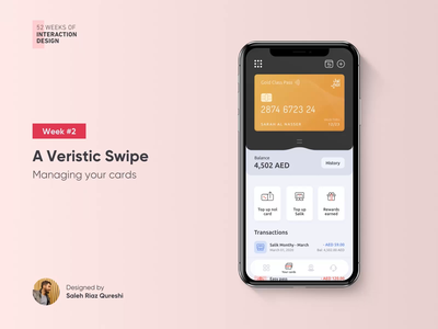 Managing Cards In Your Wallet | 52 Weeks of Interaction Design illustration mobile visual interface user experience credit card minimal uidesign ux uiux ui finance wallet product design graphic mobile app animation interaction 52weeksofinteractiondesign