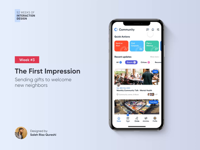 Send a welcome gift   52 Weeks of Interaction Design graphic product illustration media social community design app ios minimal interaction animation ux mobile 52weeksofinteractiondesign