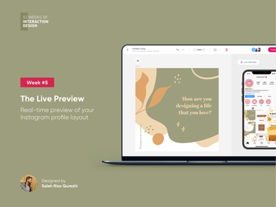 The Live Preview | 52 Weeks of Interaction Design ui wysiwyg editor 52weeksofinteractiondesign product instagram clean design minimal vector branding interaction animation ux mobile realtime preview live