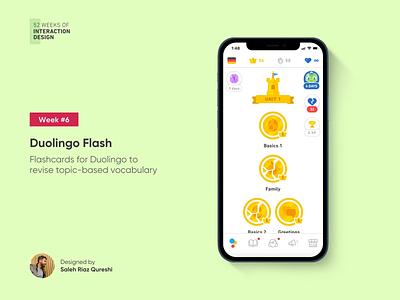Duolingo Flash | 52 Weeks of Interaction Design mobile course learn language ios uiux ui duolingo product interactiondesign interaction 52weeksofinteractiondesign