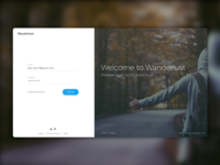 Wanderlust - Login Page for CMS