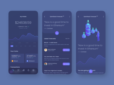 Qoinstack - Crypto Wallet Mobile App Design