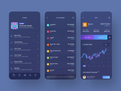 Qoinstack - Crypto Wallet Profile and Market